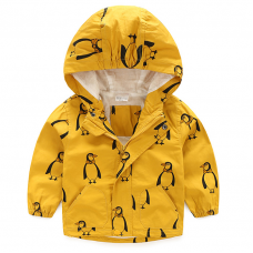 Jacket, Hooded Jacket, Childrens Clothing, Boys, Girls, Infants, Babies, Kids Jacket, Childrens Jacket, Penguins, Unisex