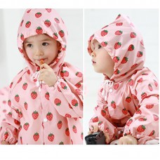 Kids Raincoat Infants Waterproof Children Rain coat Cover Poncho Rainwear Hooded Babies Children Kids with bag, Girls