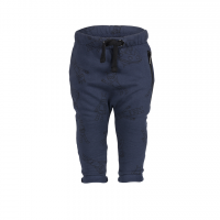 Organic Baggy Trousers with the zipper - colour MIDNIGHT BLUE with alien for boys