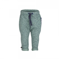 Organic Baggy Trousers with the zipper - Colour COSMIC GREEN