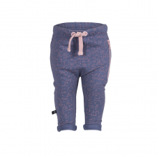 Organic Baggy Trousers with the zipper - colour SKY BLUE