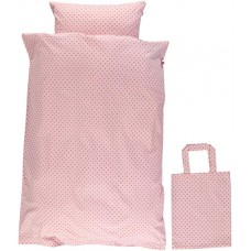 Organic Bed Linen - colour SILVER PINK