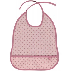 Organic Coated Bib with pocket, bibs - colour SILVER PINK