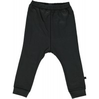 Organic Basic Jersey Trousers - colour BLACK GREY