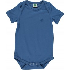 Organic Body With Short Sleeve - colour MEDIUM BLUE