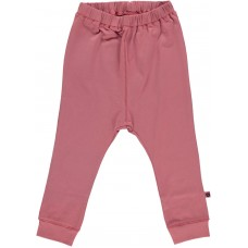 Organic Basic Jersey Trousers - colour MESA ROSE