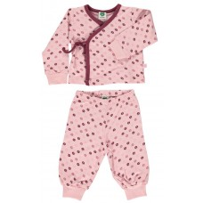 Organic SET with Trousers and Shirt - colour SILVER PINK
