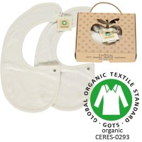 Organic Bibs - colour CREAM